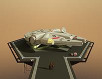 STAR WARS - Millennium Falcon Poster