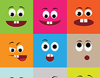 Free Cartoon Emotions Faces Set kit
