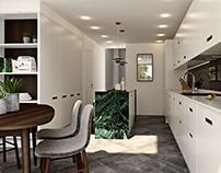 Contemporary style kitchen design