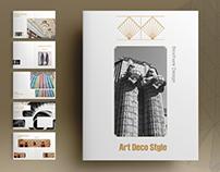 Art Deco Style Brochure