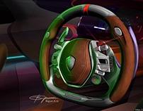 Koenigsegg concept steering-wheel