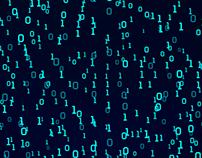 Digital number scifi Cyber Space Matrix - 4K Motion