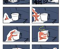 Winter Holiday Ecard Storyboard- Stay Toasty!