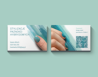 Nail art business card
