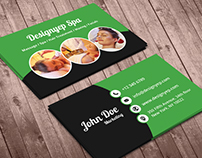 Free Beauty Spa Business Card PSD Template