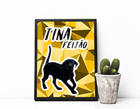 Tina Dog Poster