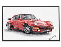 Color drawing - Car Portraits