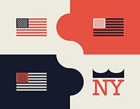 American flag colors experiment