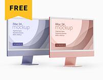 "Free The New iMac 24"" Mockup Set | 2021"