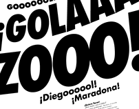 One color typographic posters