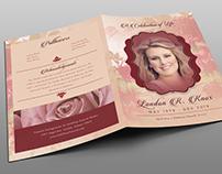 Vintage Rose Funeral Program