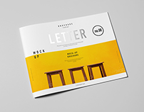 Horizontal US Letter Brochure Mock-up