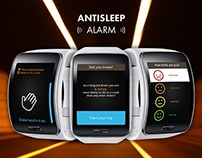 2014: Antisleep Alarm - Samsung Gear app UI