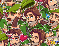 ROBIN HOOD. Telegram Stickers — 2017