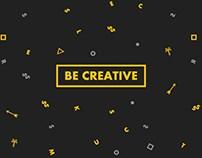 Be Creative Studio Branding