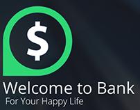 Net Banking app concept