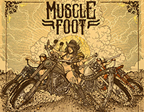 "MuscleFoot (US) - ""Heart of Stone""- album artwork"