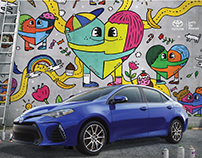 Artwork for the New 2017 TOYOTA Corolla Ad Campaign