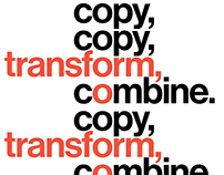 """Copy, Transform, Combine."" Instagram Promo"