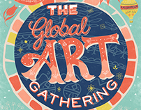 The Global Art Gathering Poster Design