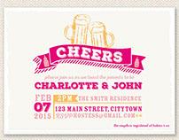 Cheers & Beers Baby Shower Invite