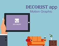 DECORIST app / motion graphic