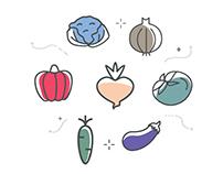 Foodie App Walkthrough Screens Interaction.