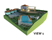 3D Landscape for private villa in Ubud (1)