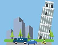 Pisa Tower Flat Design