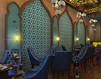 Khaleeji shisha and tea lounge in Dubai (Arabic: خليجي)
