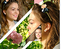 Flyer design beauty model