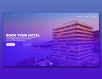 Landing Page UI/UX for Hotel bookings
