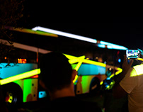 Dynamic bus - Ibiza Light Festival 2018