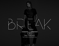 The Free Break Typeface