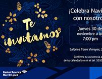 Christmas Invitation Bank of America Mx