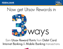 Federal Bank - 3 ways to earn rewards