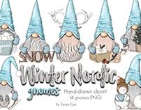 Winter Gnomes Clipart