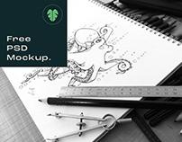 Free Art Sketch Book Mock-Up