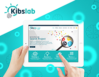 Kibslab - Web Site Layout interface & Brand identity