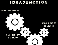 IdeaJunction: Idea pitching contest poster