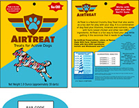 AirTreat logo, packaging and website