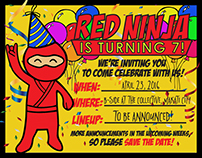 Red Ninja Year 7 Fest Branding and Promotion