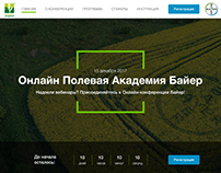 Bayer conference landing page