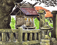 Yahiko Watercolor Sketches - Japan 2014