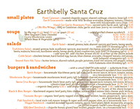 Earthbelly menu-print