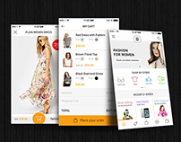 Ecommerce App Design For iPhone.
