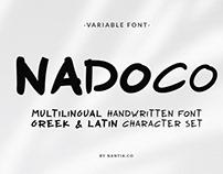 Nadoco Handwritten Variable Font
