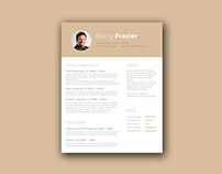 Free Brown Themed Resume Template