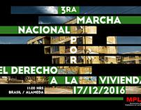 Marcha por la vivienda Afiche MPL