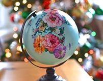 Painted Flower Globe